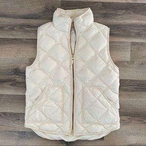 J Crew Cream Puffer Vest